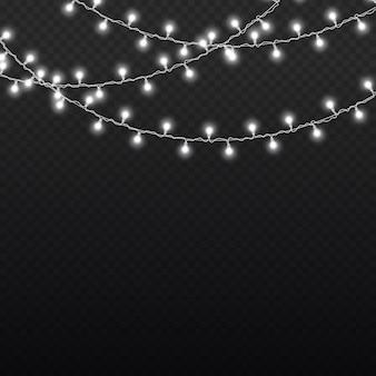 화이트 라이트 화환 led 네온 불빛 크리스마스 장식