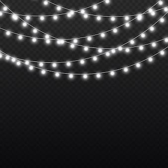 ホワイトライトガーランドledネオンライトクリスマスデコレーション