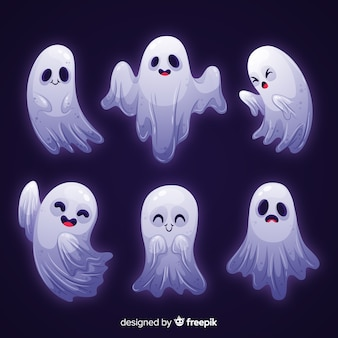 White light ghost halloween collection