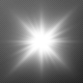 白色光。太陽、太陽光線、フレア、夜明けpng。白色光の爆発。ホワイトスター
