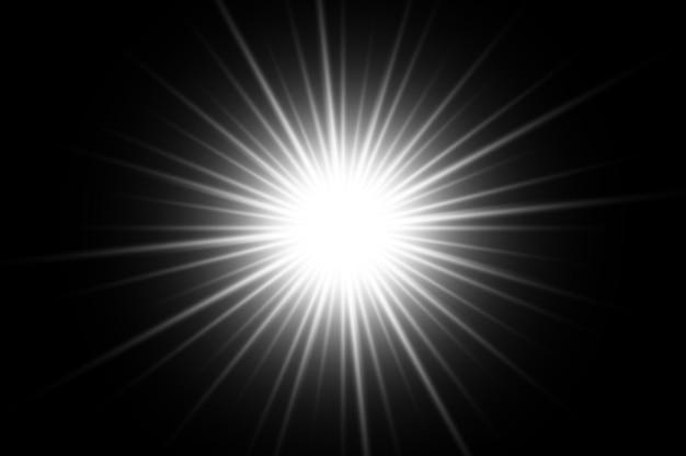 White  light transparent background design eps