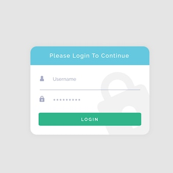 White login template design for your website or app