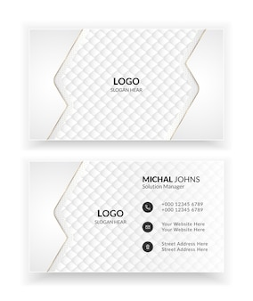 White luxury creative and clean business card templates.