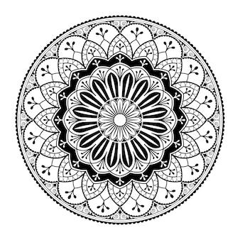 Белый узор мандалы на белом фоне
