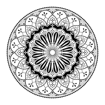 White mandala pattern on white background