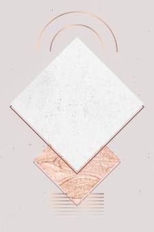 White marble card