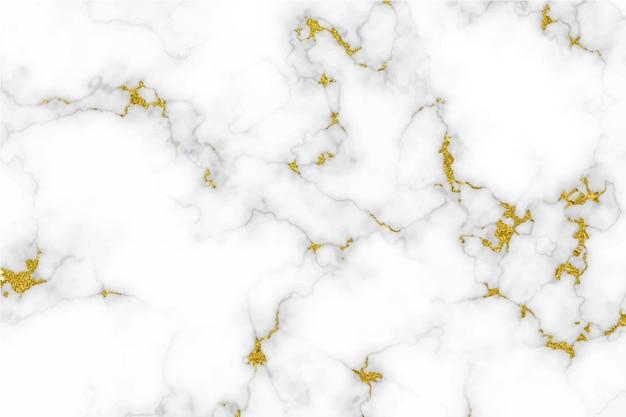 金の背景と白い大理石のテクスチャ