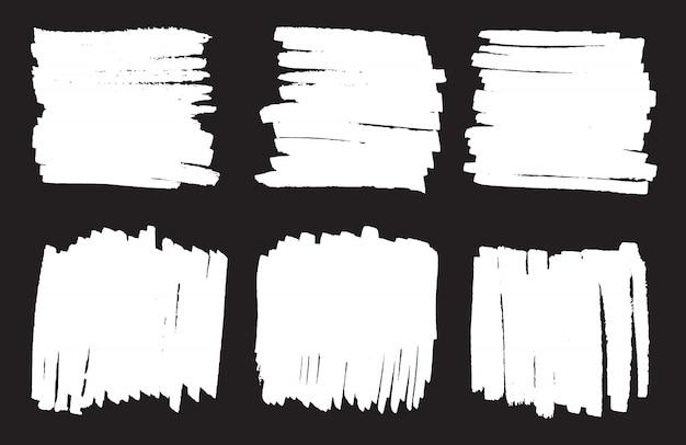 White marker backgrounds set