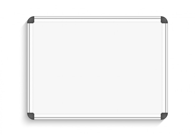 White marker board. illustration.