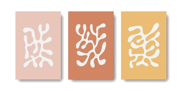 White matisse on pastel color collection