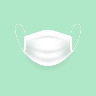 흰색 의료 보호 마스크, 수술용 마스크, 바이러스 및 감염 보호.