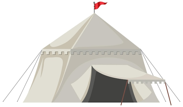 White medieval tent isolated