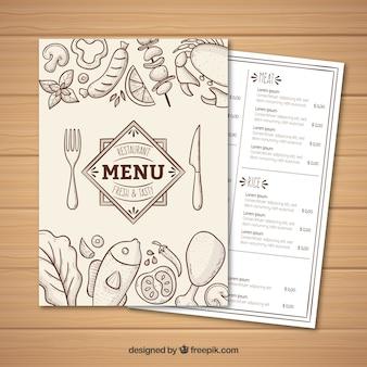 White menu template