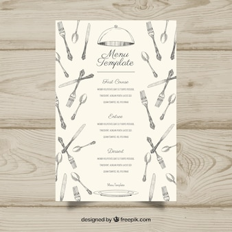 White menu template