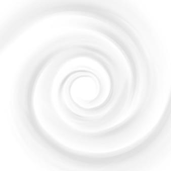 White milk, yogurt, cosmetics product swirl cream