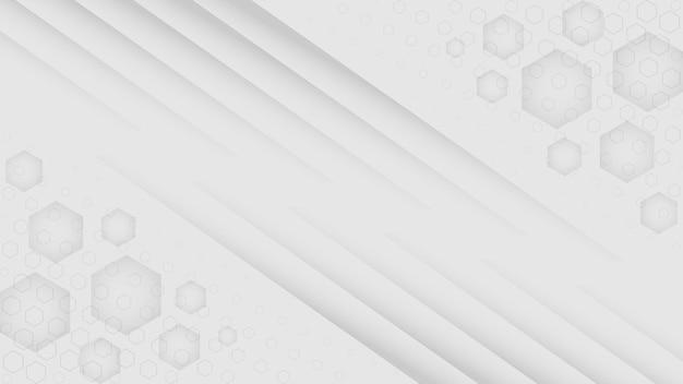 白の最小限の背景プレミアムベクトル