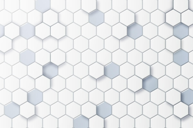White minimal hexagonal background