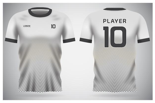 Белая минималистичная форма из футболки для футбольного клуба, футболка с видом спереди и сзади