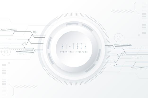 White minimalistic technology background