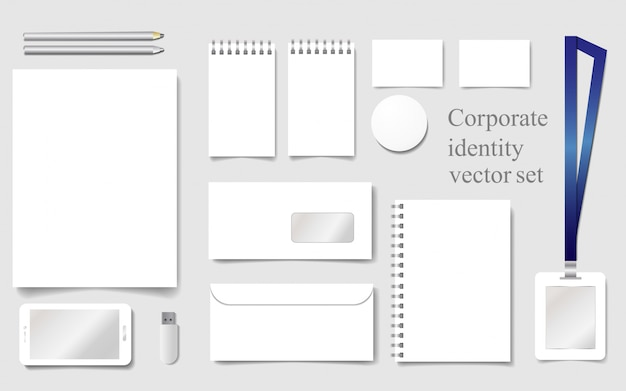 White mock-up template for corporate identity