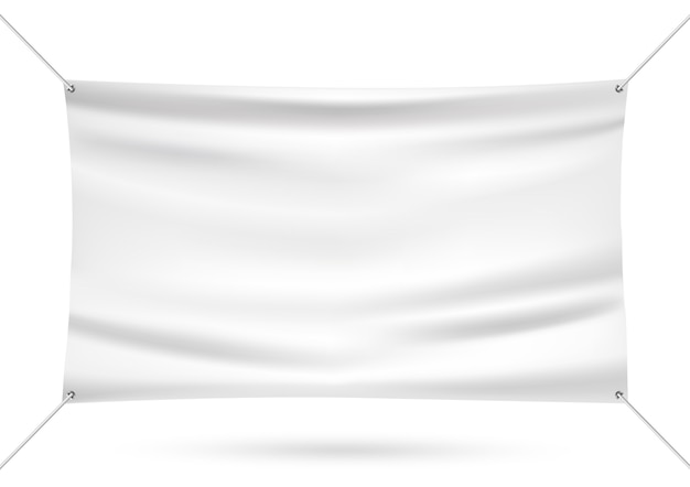 White mock up vinyl banner