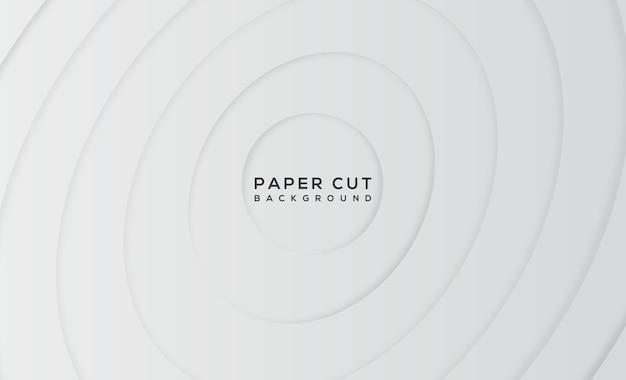 白のモダンな抽象的な紙カットの背景