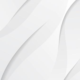 波と影の白いモダンな流体背景構成