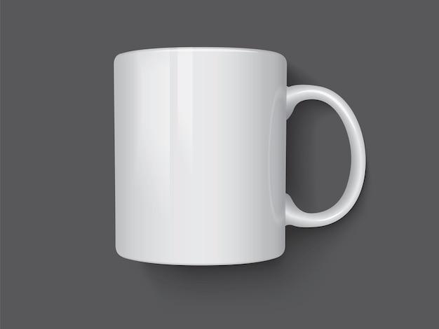 고립 된 흰색 머그잔
