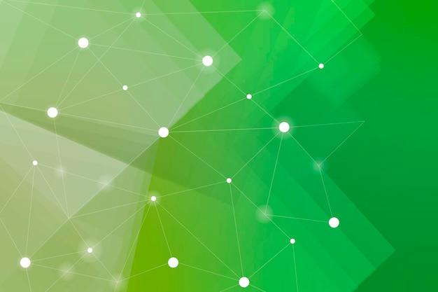 緑の背景に白いネットワークパターン