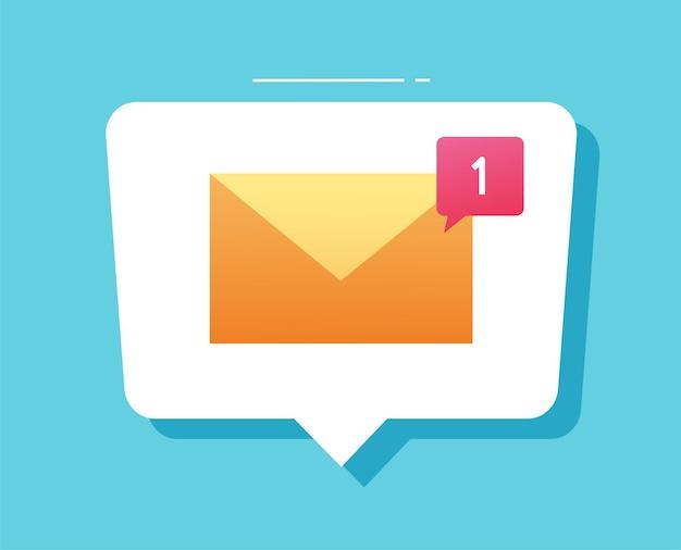 白い新しい電子メール