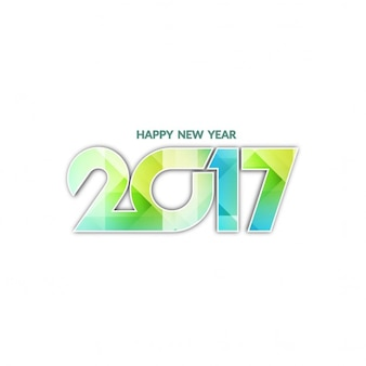 White new year 2017 background with geometric shapes