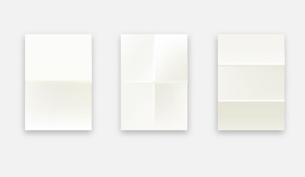 흰색 노트북 또는 책 페이지. 프리미엄 벡터
