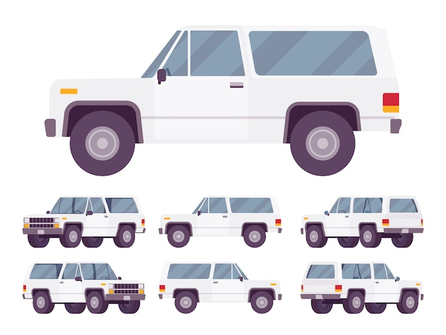 White offroad set