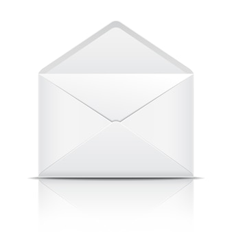 White open envelope.  illustration