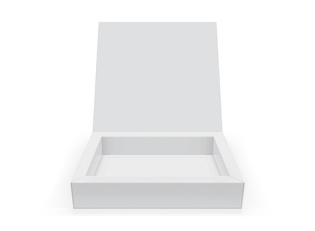 White open square box isolated