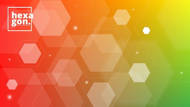 White orange background of hexagons. geometric style. mosaic grid. abstract hexagons deisgn
