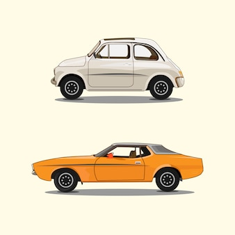 White orange car set