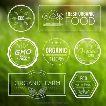White organic badges pack