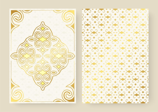 White ornament pattern greeting card