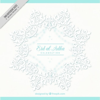 White ornamental background of eid al-adha