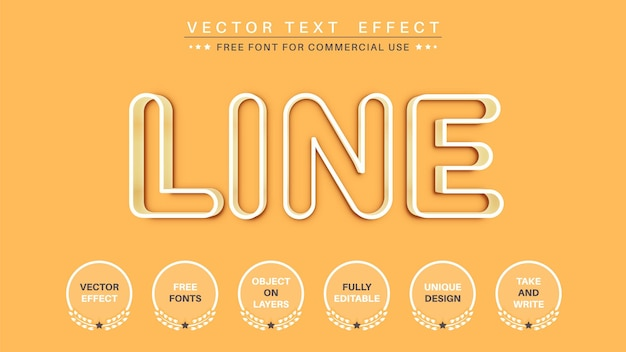 White outline   edit text effect font style