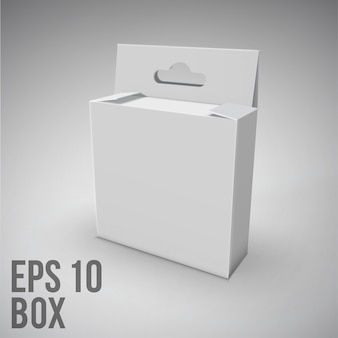 Белый пакет box.mockup