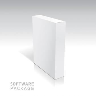 Белый пакет картон boxvector иллюстрации