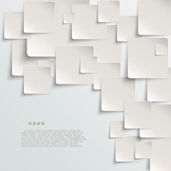 White paper abstract vector background