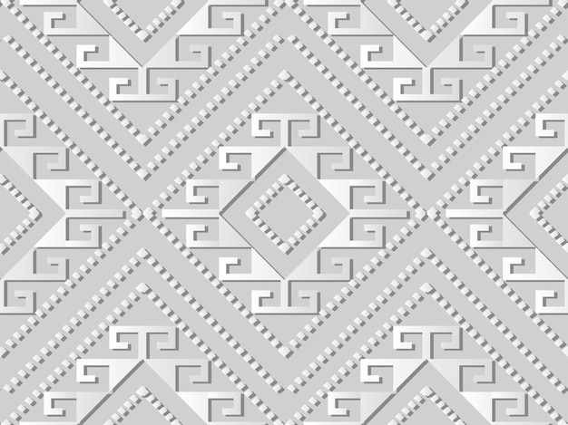 Белая бумага искусство проверить алмаз спираль крест рамка точка линия, стильный узор украшения фон для веб-баннера поздравительной открытки
