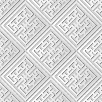 백서 아트 체크 스퀘어 크로스 트레이 서리 프레임, 웹 배너 인사말 카드의 세련된 장식 패턴 배경