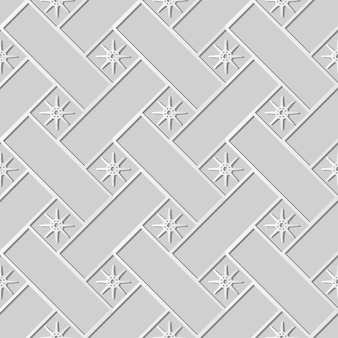 백서 아트 크로스 체크 스퀘어 기하학 스타 꽃, 웹 배너 인사말 카드에 대한 세련된 장식 패턴 배경