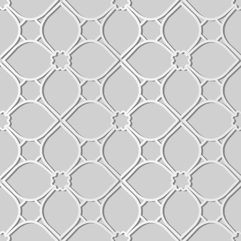 White paper art curve cross frame flower line,  stylish decoration pattern background for web banner greeting card