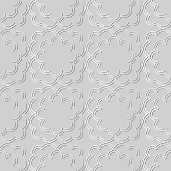 White paper art curve cross frame flower,  stylish decoration pattern background for web banner greeting card