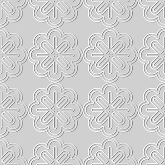 White paper art curve cross frame line flower,  stylish decoration pattern background for web banner greeting card